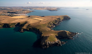 Pentire Head   from the air