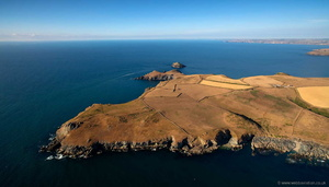 Pentire Head Cornwall  from the air