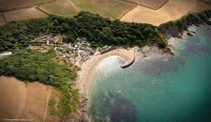 Polkerris Cornwall   from the air