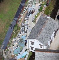 Polperro Model Village from the air