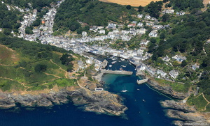 Polperro from the air