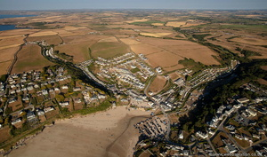Polzeath from the air