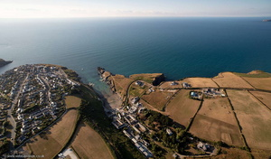 Port Gaverne from the air