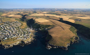 Port Isaac Cornwall  from the air