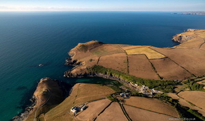 Port Quin from the air
