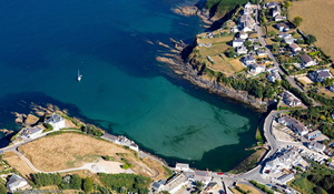 Portmellon Cornwall aerial photograph