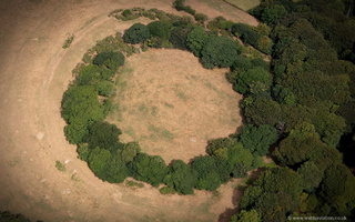 Prideaux Castle  hillfort Cornwall  from the air