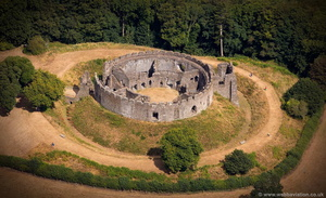 Restormel Castle Cornwall aerial photograph