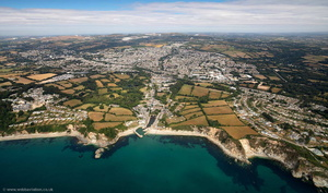 Saint Austell Cornwall   from the air