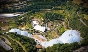 Eden Project Cornwall  aerial photograph