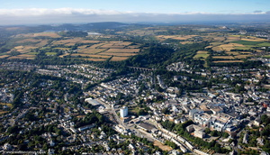 St Austell Cornwall aerial photograph