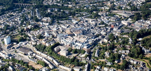 St Austell town centre  Cornwall aerial photograph