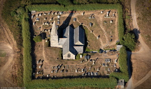 St Enodoc's Church, Trebetherick Cornwall from the air
