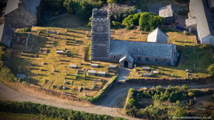 St Petroc's Church Trevalga  aerial photograph