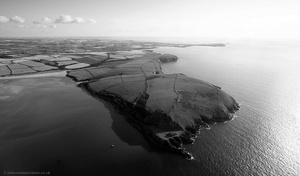 Stepper Point Cornwall  from the air