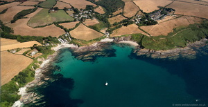 Talland Bay Cornwall  aerial photograph