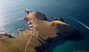 The Rumps Iron Age promontory fort  Pentire Head   from the air