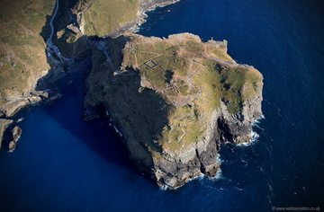 Tintagel Castle  from the air