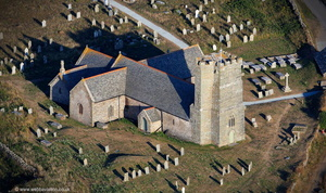 Tintagel Parish Church from the air