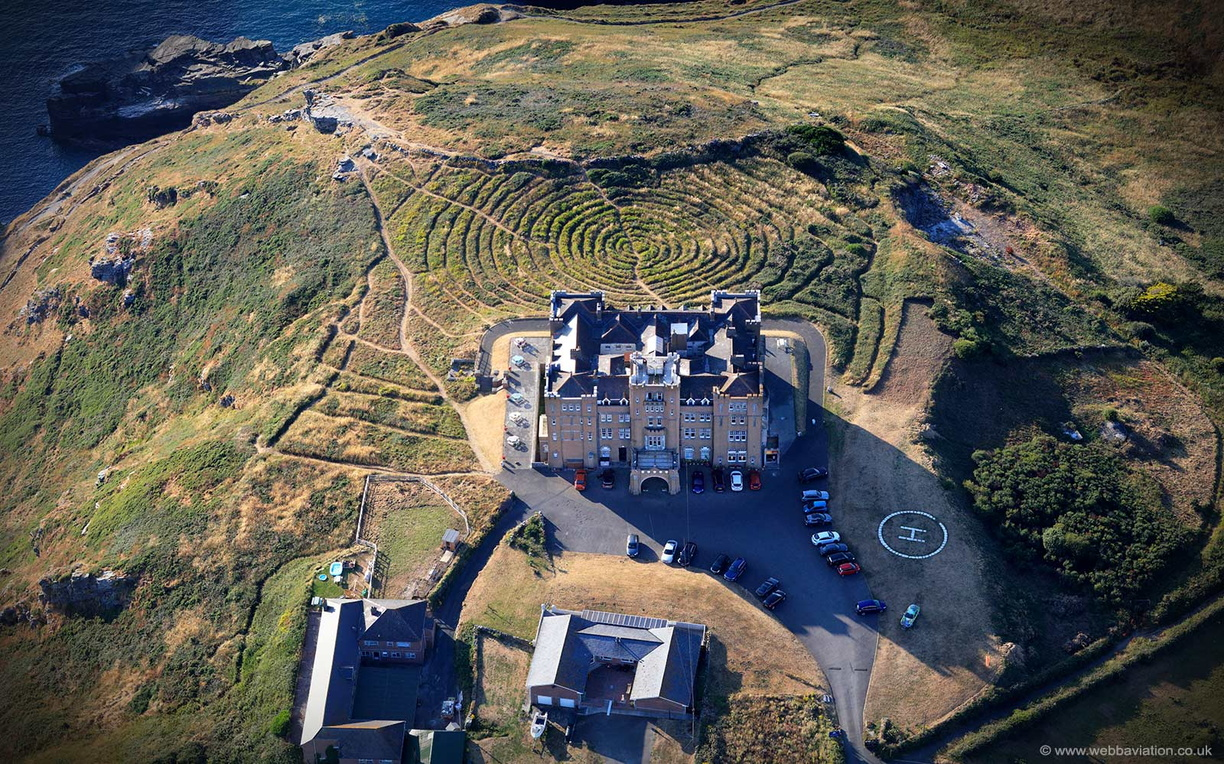 Camelot Castle Hotel  Tintagel   from the air