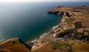 Trebarwith Strand from the air