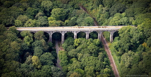 Treffry Viaduct from the air