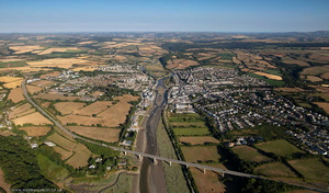 Wadebridge Cornwall  from the air
