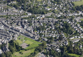 Ambleside in the Lake District Cumbria UK aerial photograph