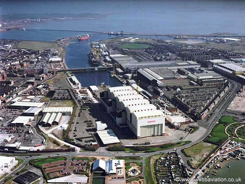 Barrow in Furness from the air