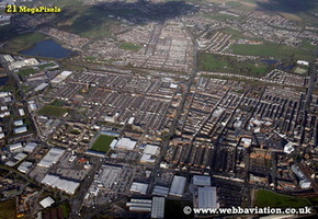 Barrow-in-Furness Cumbria UK aerial photograph