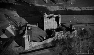 Brougham Castle Cumbria from the air
