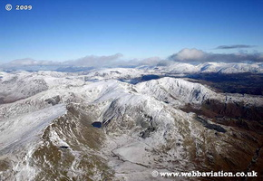 Coniston Old Man Cumbria UK aerial photograph