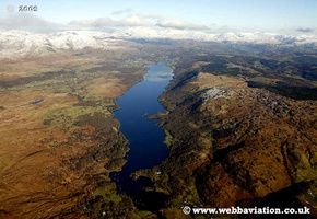 Coniston Water Cumbria UK aerial photograph