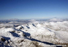 the Lake District Cumbria  aerial photograph