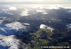 Grasmere   in the Lake District Cumbria UK aerial photograph