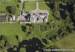 Greystoke Castle Cumbria UK aerial photograph