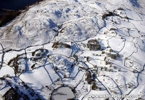 Littlewater  in the Lake District Cumbria UK aerial photograph
