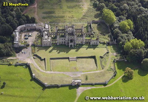 Lowther Castle  Cumbria aerial photograph