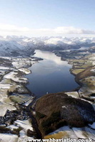 Ullswater in the Lake District Cumbria UK aerial photograph