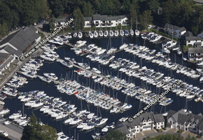 Windermere Marina   Cumbria UK aerial photograph