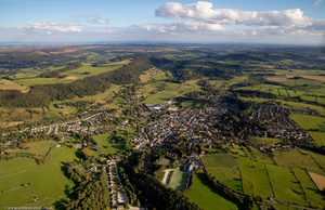 Bakewell in the Derbyshire Dales from the air