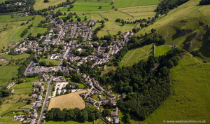 Castleton, Derbyshire from the air