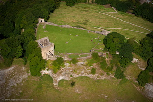 Peveril Castle from the air
