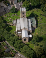 Church of St Thomas Becket Chapel-en-le-Frith from the air