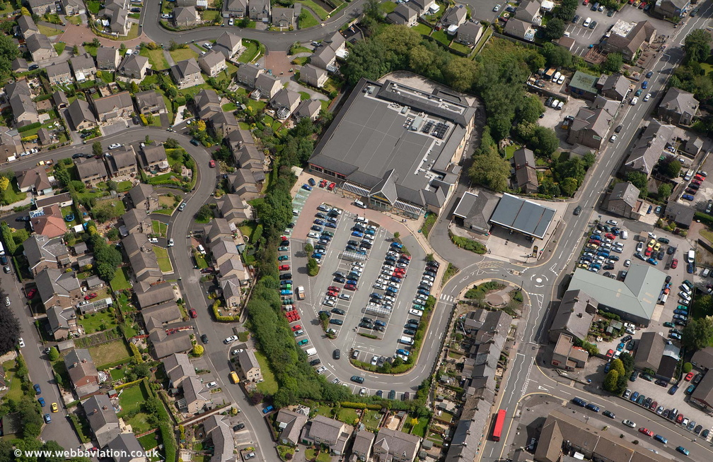 Morrisons Supermarket  Chapel-en-le-Frith from the air