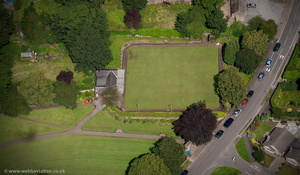 Bowling Green Chapel en le Frith Memorial Park Chapel-en-le-Frith from the air
