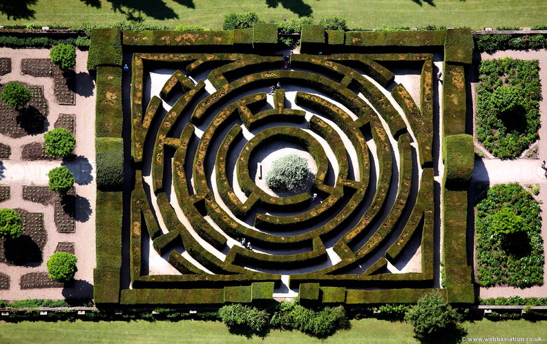 Chatsworth House Maze  from the air