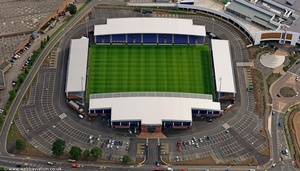 B2net Stadium    Derbyshire  aerial photograph