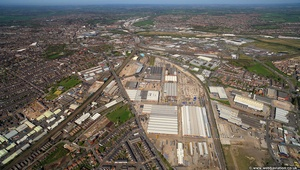 Boimbardier Works  Derby aerial photo