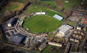 County Ground  Derby aerial photo